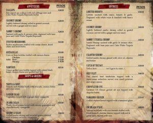 Cabo Wabo Cantina menu, nick fong, los cabos agent, greg hixon, remexblogs